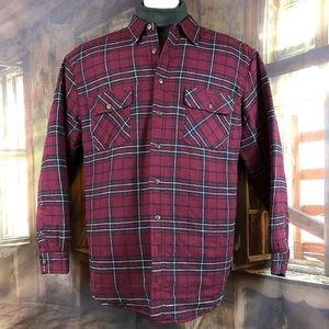 Wolverine flannel button-down plaid shirt XLT Tall
